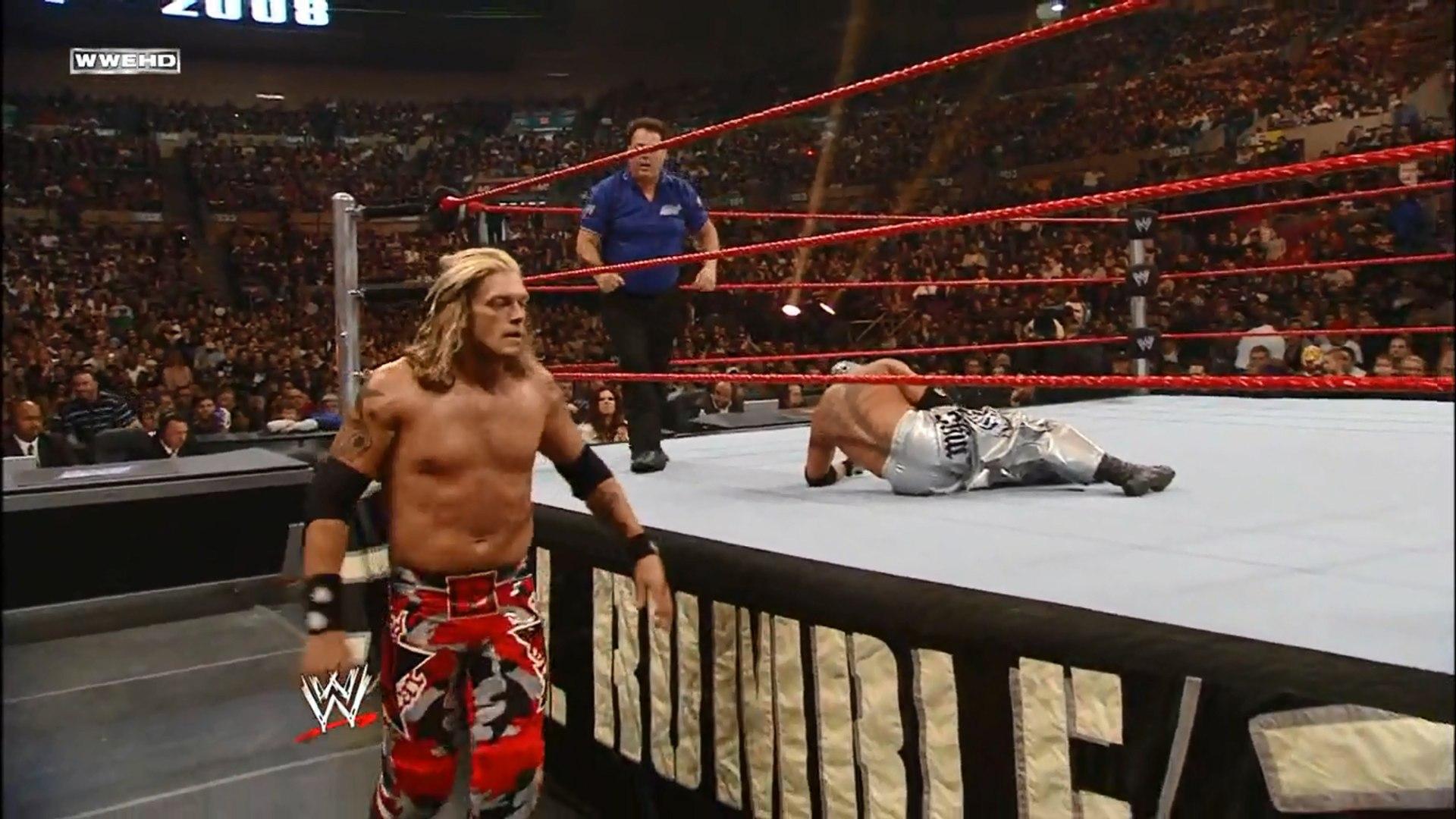 Edge vs Rey Mysterio - World Heavyweight Championship - Royal Rumble 2008 -  video Dailymotion