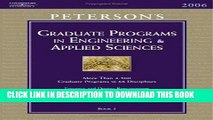[PDF] Grad Guides BK5: Engineer/Appld Scis 2006 (Peterson s Graduate and Professional Programs in