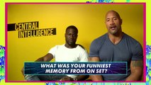 Kevin Hart & Dwayne Johnson FUNNIEST Moments & Bloopers - Central Intelligence! | MTV