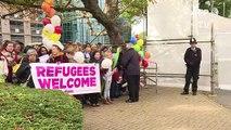 GB: accueil chaleureux pour les mineurs de Calais à Croydon