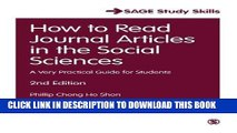 [PDF] How to Read Journal Articles in the Social Sciences: A Very Practical Guide for Students