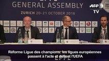 Ligue des champions: les ligues européennes défient l'UEFA