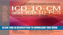 [Read PDF] ICD-10-CM and ICD-10-PCS Coding Handbook, with Answers, 2016 Rev. Ed. Ebook Online