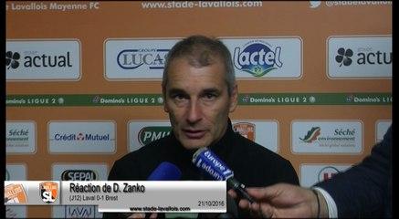 (J12) Laval 0-1 Brest, réaction de D. Zanko