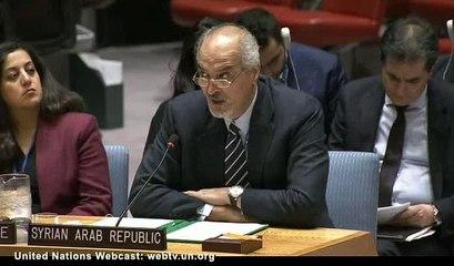 UNSC 19/10/2016 Syrie sur la colonisation du Golan par Israël et son aide aux terroristes