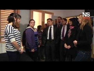 Coulisses : Nicolas Sarkozy échange avec les élèves de l'Internat d'Excellence de Montpellier.