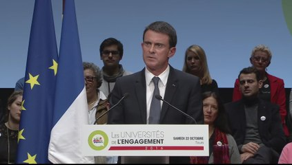 Intervention de Manuel Valls - Université de l'Engagement de Tours