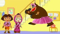 #Masha and Dora Swimming In The House #Funny Story #Rainbow Rhymes