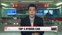 Hyundai Motor's Sonata Hybrid becomes the fifth best-selling hybrid car in the U.S.