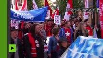 Manifestation de grande ampleur contre CETA et TTIP à Amsterdam