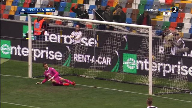 Cyril Thereau Goal HD - Udinese 1-0 Pescara - 23-10-2016