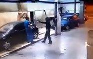 Un braqueur se fait prendre son arme et est obligé de laver des voitures !