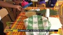 Reportage de ma nièce Alice pour 1ère Guyane Soir - La semaine du goût à l'école