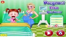 Frozen Games - Pregnant Elsa Baby Doctor Game  #Kidsgames #Barbiegames