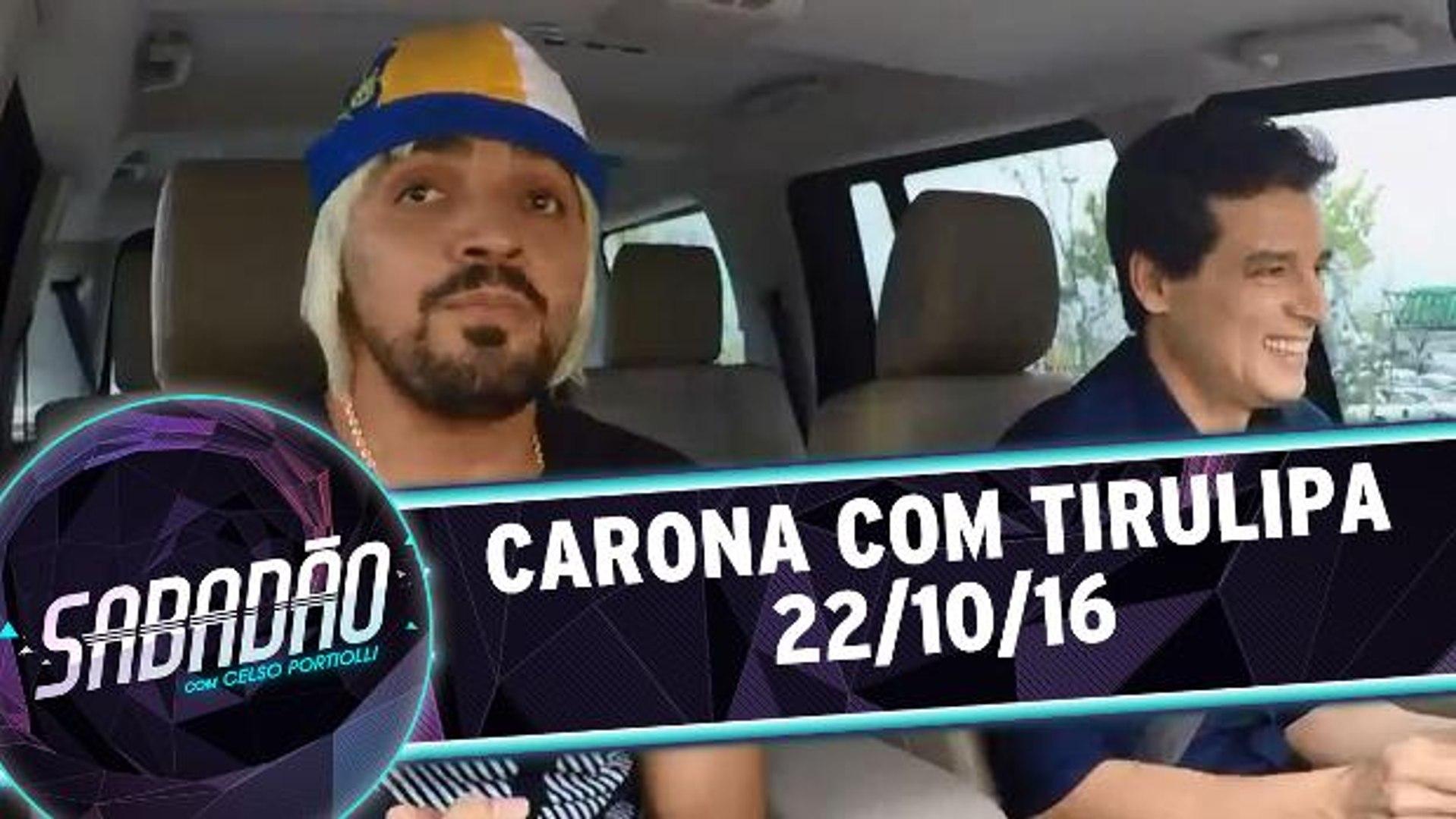 Celso Portiolli dá carona para Tirulipa