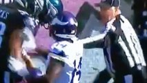 Ref Elbows Stefon Diggs, Sends Him Flying