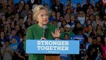 Hillary Clinton rallies voters in Charlotte, North Carolina