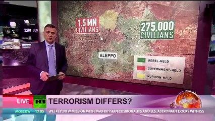 Syrie Victimes à Alep de bombardements de rebelles soutenus par coalition pilotée par USA