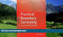 Big Deals  Practical Boundary Surveying: Legal and Technical Principles  Best Seller Books Best