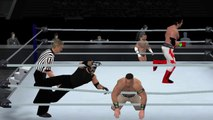 aj styles rey mysterio vs john cena kane tag team match