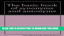 PDF Basic Book Of Synonyms And Antonyms Read Online - video