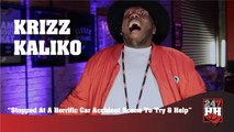 Krizz Kaliko - Stopped At A Horrific Car Accident Scene & Tried To Help (247HH Exclusive) (247HH Wild Tour Stories)