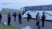 """Calais: le premier car de migrants a quitté la """"Jungle"""""""