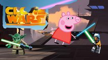 STAR WARS PEPPA PIG YODA NEW Clone Wars Coloring Cartoon Painting Videos FULL Episodes For Kids