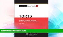 READ FULL  Casenote Legal Briefs: Torts, Keyed to Goldberg, Sebok,   Ziprusky, Third Edition