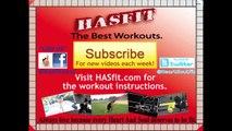 HASfit 10 Minute Leg Workout Exercises - Best Legs Exercises at Home at Home Leg Workout Men & Women