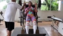 Female bodybuilding chest workouts, shoulder workouts, leg workouts