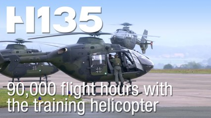 German Armed Forces reach 90,000 flight hours with the H135 training helicopter