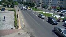 Ordu'da Trafik Kazaları ve Yaya Kazaları Mobese Kameralarına Yansıdı