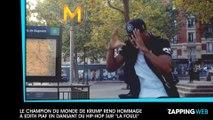 """Le champion du monde de Krump rend hommage à Edith Piaf en dansant du hip-hop sur un remix de """"La Foule"""" (vidéo)"""