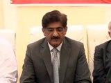Sindh Chief Minister Syed Murad Ali Shah press conference at Ibrahim Hydri, Karachi, Sindh (SOT-2)