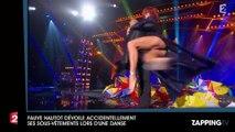 Fauve Hautot dévoile ses sous-vêtements lors d'une danse