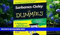Big Deals  Sarbanes-Oxley For Dummies  Full Ebooks Most Wanted