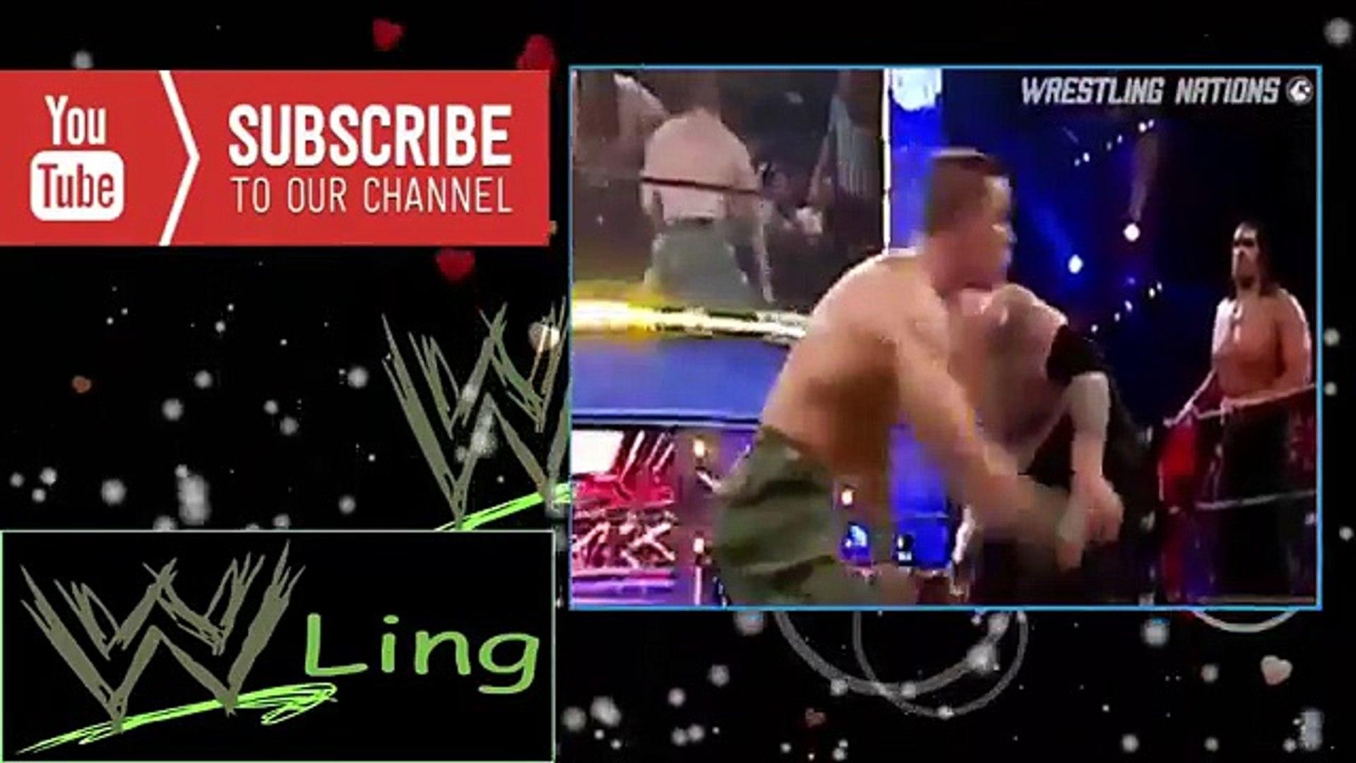 WWE John Cena and Boby Lashley vs WWE Great Khali, Umaga and Shane Mcmahon - WWE Raw 2007 Full