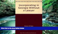 Big Deals  Incorporating in Georgia Without a Lawyer  Best Seller Books Best Seller