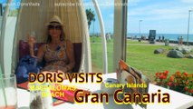 Gran Canaria, Canary Islands. Doris Visits the beach Maspalomas