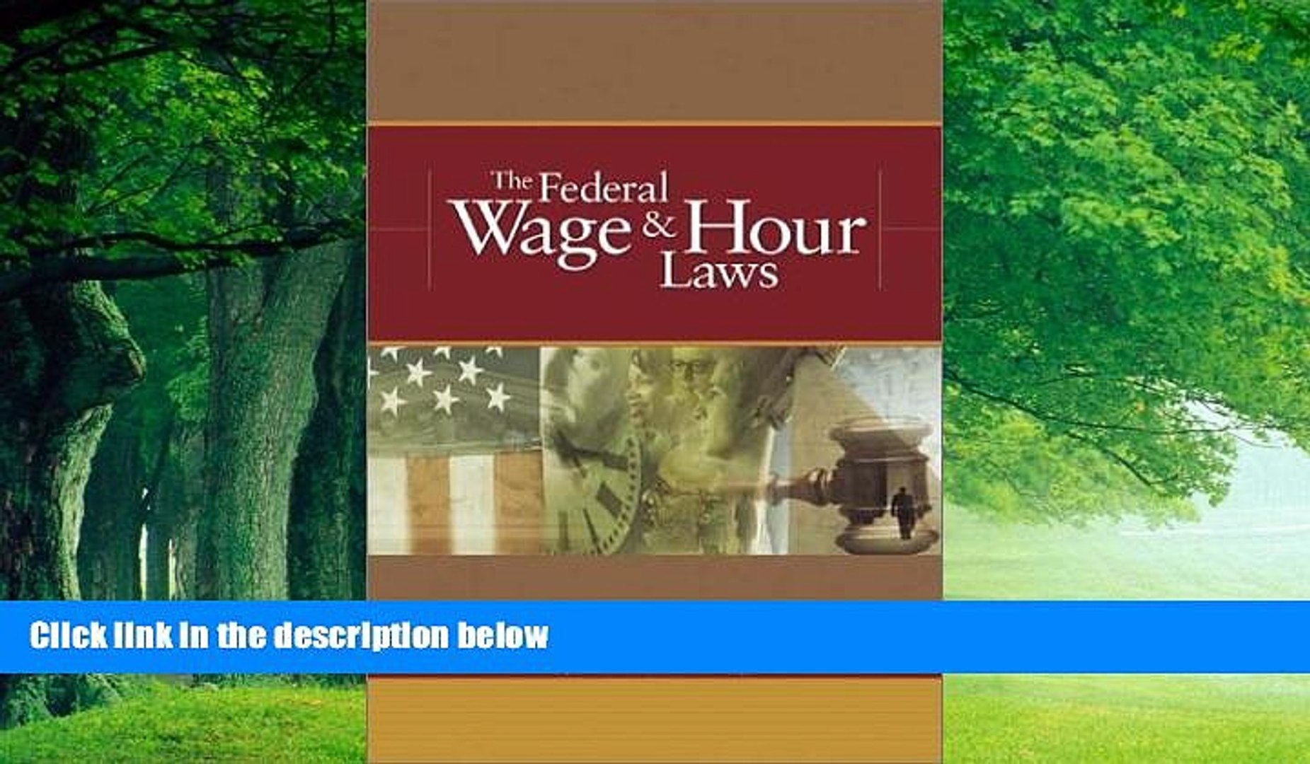 Big Deals  The Federal Wage   Hour Laws  Best Seller Books Best Seller