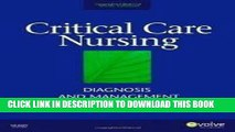 [READ] EBOOK Critical Care Nursing: Diagnosis and Management (Thelans Critical Care Nursing
