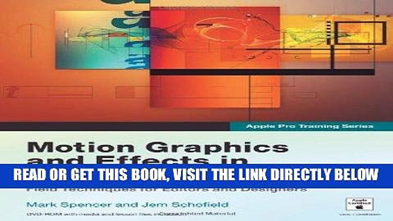 [Free Read] Apple Pro Training Series: Motion Graphics and Effects in Final  Cut Studio 2 by Mark
