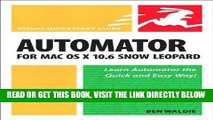 [Free Read] Automator for Mac OS X 10.6 Snow Leopard: Visual QuickStart Guide Full Online