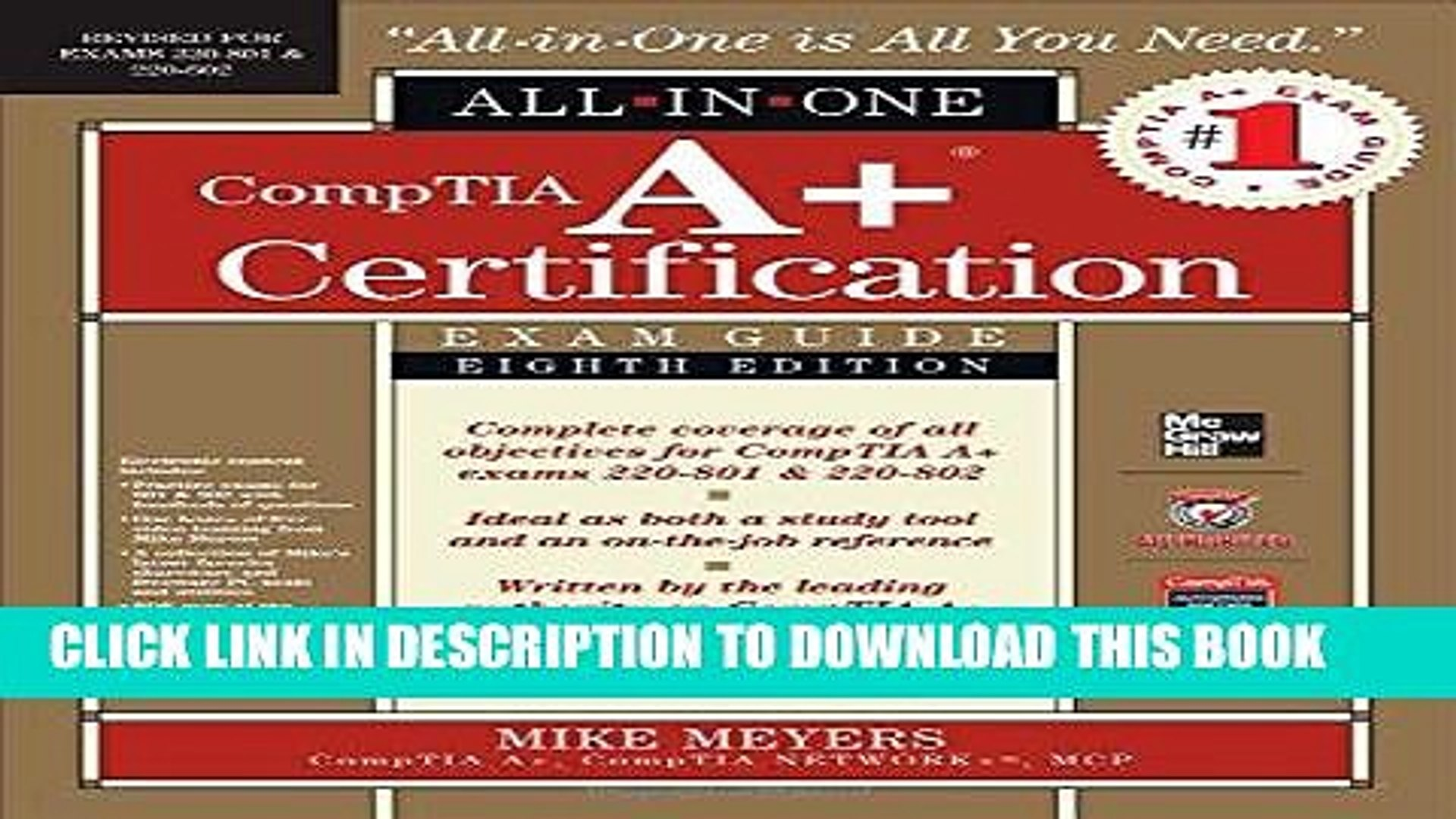 [Free Read] CompTIA A+ Certification All-in-One Exam Guide, 8th Edition (Exams 220-801   220-802)