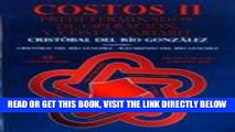 [New] Ebook Costos 2: Predeterminados, De Operacion, Y Costo Variable Free Read