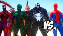 SPIDERMAN VS SPIDER-MAN ENEMIES - VENOM, SCORPION, CARNAGE, RHINO, GREEN GOBLIN VS SPIDERMAN