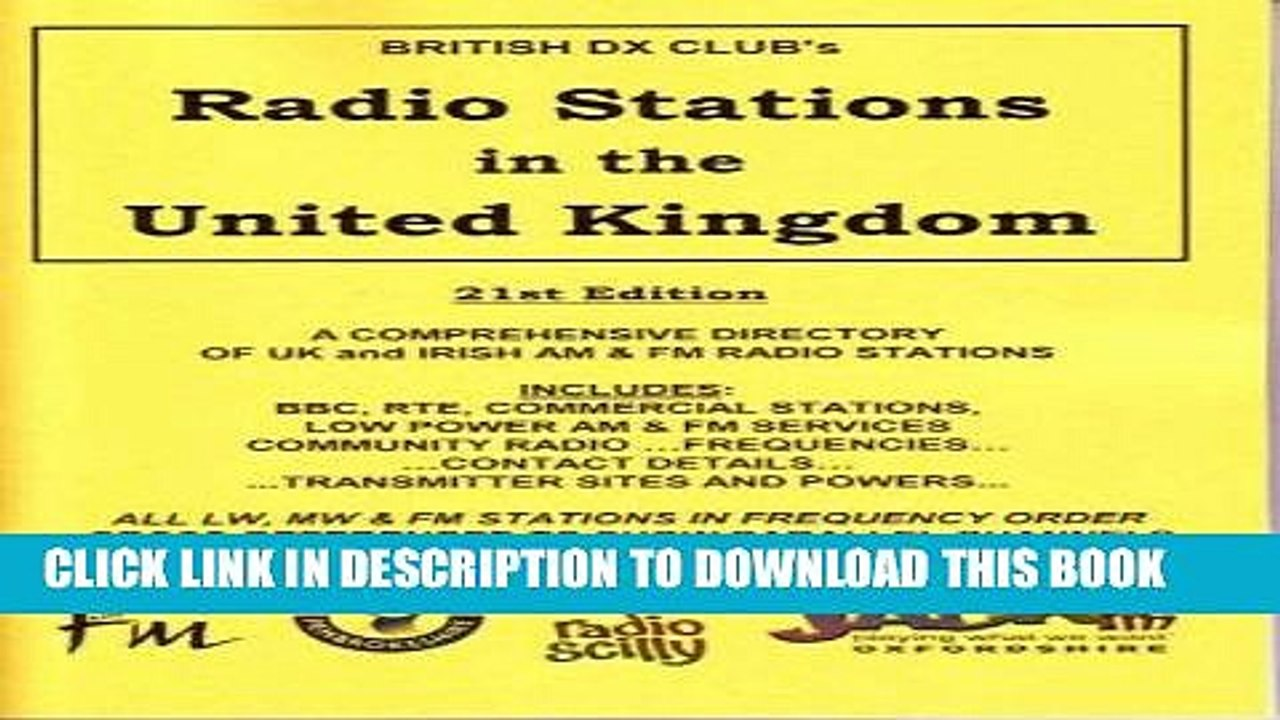[New] PDF Radio Stations in the United Kingdom: A Guide to UK Domestic  Radio Free Online