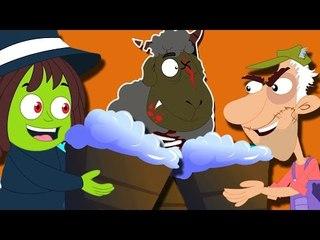 blökenblöken schwarze Schafe | Furchtsamer Cartoon für Kinder | Beliebte Kinderreim
