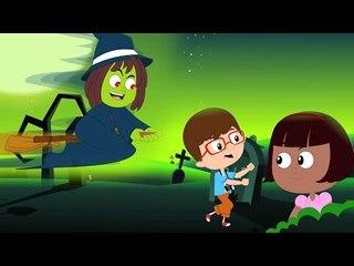 Halloween Canzone | Scary cartoni animati per i bambini | Capretti Video | Halloween Song for kids